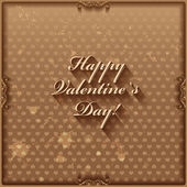 Grunge Happy Valentine's Day hand lettering card or background with hearts pattern. — Stock Vector