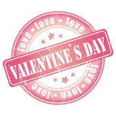 Šťastný valentines den razítka pro kartu nebo pozadí. — Stock vektor