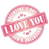 Happy Valentines Day stamp for card or background. — 图库矢量图片