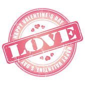 Happy Valentines Day stamp for card or background. — Stock Vector