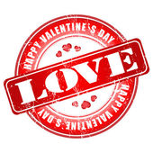 Happy Valentines Day stamp for card or background. — Stockvektor