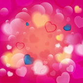 Hearts Valentines Day background or card. — Stock Vector