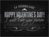 Happy Valentines Day card or background. — Vector de stock