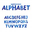 Handwritten watercolor alphabet. — 图库矢量图片 #40840013