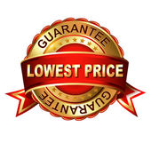 Lowest price guarantee  label — Stock Vector