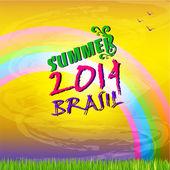Brazil summer 2014 color background. — Stock Vector