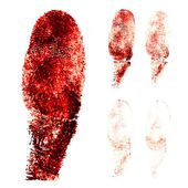 Rode vingers afdrukken — Stockvector