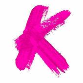 K - Pink handwritten letter — Wektor stockowy