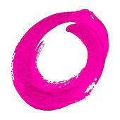 O - Pink handwritten letter — Wektor stockowy
