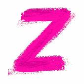 Z - Pink handwritten letter — Wektor stockowy
