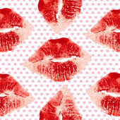 Lipstick female kiss — Vector de stock