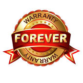 Forever warranty — Stock Vector