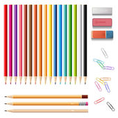 Colorful sharp pencils set — Stock Vector