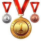 Award Medals Set — Stock Vector