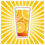 Glass of orange juice — Stock Vector #47599179