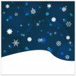 Snowfall backround — Vector de stock  #49190863