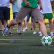 Kick off soccer ball — ストック写真