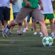 Kick off soccer ball — Foto de Stock