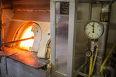Furnaces in the glass factory — Stock Photo