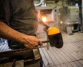 Piece w fabryki szkła — Zdjęcie stockowe