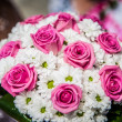 Wedding flower with bride — Stock Photo #35104371