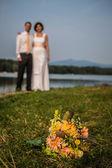 Bride and groom bouquet — Foto de Stock