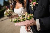 Corazón floral — Foto de Stock