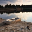Autumn evening on the lake — Stock Photo