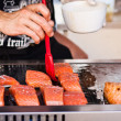 Fish on the grill — Stock Photo