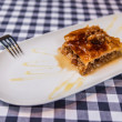 Turkish arabic dessert baklava with honey and nuts — Stock Photo