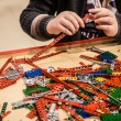 Stock Photo: Child builds kit