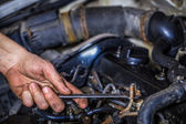 Repair of motor car — Stock Photo