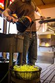 Glass manufacturing process — Stock Photo