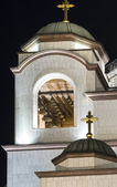 Church of Saint Sava bell tower — Stock fotografie