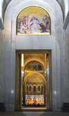 Church of Saint Sava entrance — Stock Photo