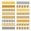Ribbons. Washi tapes set. — Stock Vector