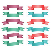 Set of color ribbon banners. — Stock Vector