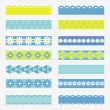 Tapes. Set of ribbon banners. — Stock Vector
