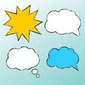 Set van spraak bubbels, wolk en ster. — Stockvector