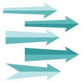 Signos de flecha. ilustración vectorial. — Vector de stock
