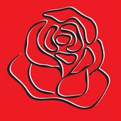 Skizze der rosen auf rotem grund, element für ihr design. vektor. — Stockvektor