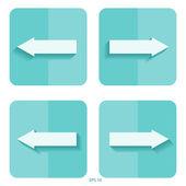 Arrow signs. Flat design. Vector icon. — Wektor stockowy