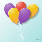 Balloons of color paper, vector illustration. — Stock Vector