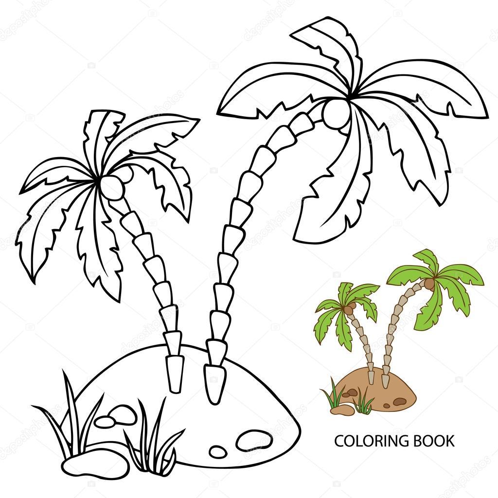 раскраски с пальмой