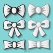 Set of bow tie. Vector illustration. — Stock Vector #48576761
