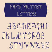 Hand written letters. English alphabet . Vector set. — Stock Vector