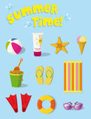 SUMMER STUFF — Stock Vector