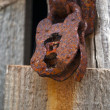 Foto Stock: Rusty old padlock