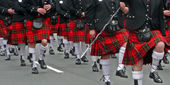 Kilt parade — Stock Photo