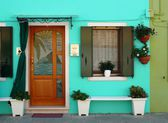 Colorful houses on the island of Burano, Italy — ストック写真